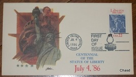 Centennial of the Statue of Liberty First Day Cover - $10.00
