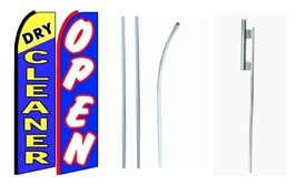 Dry Cleaner/Open king size swooper feather flag complete kit - $108.00