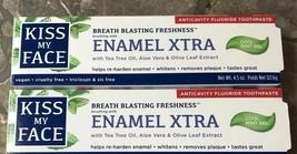 Kiss My Face Toothpaste Enamel Xtra Cool Mint Gel 4.5oz Vegan Fluoride 0... - $12.19