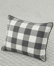 Martha Stewart Collection Box Plaid Reversible Yarn-Dyed Quilted Standard Sham - $22.77