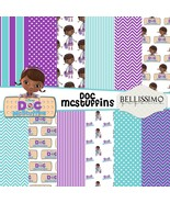 Doc McStuffins Paper Pack: Scrapbook Paper, PRINTED, 12 Sheets - $6.50