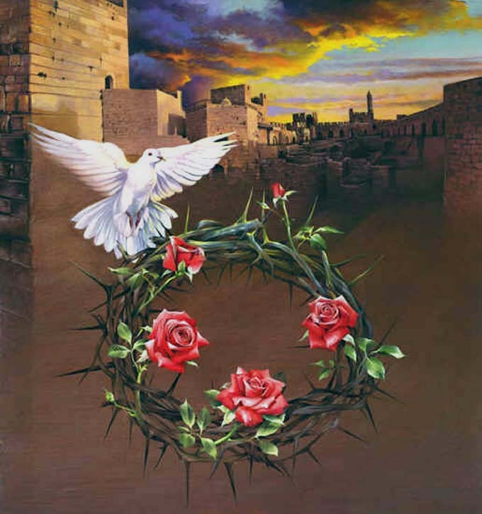 Crown of thorns cross stitch pattern