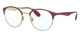 Ray-Ban Rx Eyeglasses Frames RB 3545V 3007 51-20-145 Matte Burgundy / Pi... - $91.92