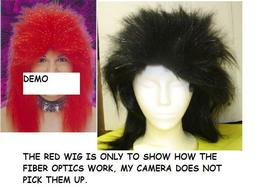 BLACK FIBER OPTIC PUNK WIG MUST SEE GREAT CLUB WEAR! - $22.00