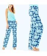Women's Blue Lilly Pulitzer Florita Linen Pants Joy Ride XS sz XS - $71.60