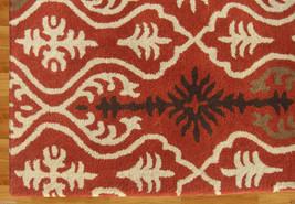 Ikat Links Rust 9' X 12' Handmade Persian Style 100% Wool Area Rug - $799.00