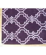 FRENCH ACCENT SCROLL TILE PURPLE 9X12 HANDMADE PERSIAN STYLE WOOL AREA RUG - $799.00