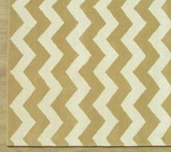 Chevron Zig Zag Taupe Wheat 4' x 6' Handmade Transitional Woolen Area Rug Carpet - $299.00