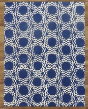 Arabesque Scroll Blue 5' x 8'  Handmade 100% Wool Area Rug 2000-Now and Floral - $369.00
