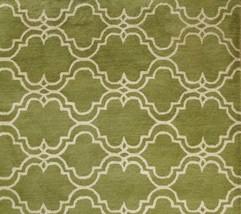 Brand New Scroll Tile Green 5' X 8' Handmade Persian Style 100% Wool Area Rug - $249.00