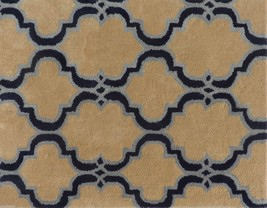 Scroll Tile Taupe 9' X 12' Handmade Persian Style 100% Wool Area Rug - $799.00