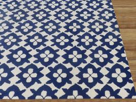 Diamond Basic Blue 4' x 6' Handmade Persian Style 100% Wool Area Rug Carpet - $299.00