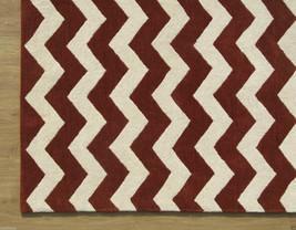 Chevron ZigZag Rust 3' x 5' Handmade Persian Style 100% Wool Area Rug - $209.00