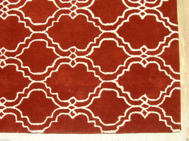 French Accent Scroll Tile Rust 5' X 8' Handmade Persian Style 100% Wool Area Rug - $369.00