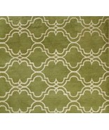 BRAND NEW SCROLL TILE GREEN 6' x 9' HANDMADE PERSIAN STYLE 100% WOOL ARE... - $369.00