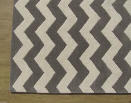 Chevron Zig Zag Gray 9' x 12' Handmade Persian Style 100% Woolen Area Rug Carpet - $799.00