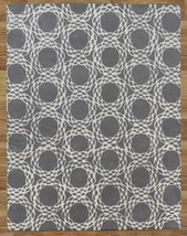 Arabesque Scroll Gray 9' x 12'  Handmade 100% Wool Area Rug 2000-Now and Floral - $799.00