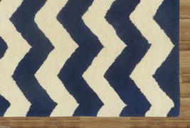 Chevron Zig Zag Blue 9' x 12' Handmade Persian Style 100% Woolen Area Rug Carpet - $799.00