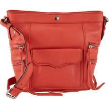 NWT - Rebecca Minkoff  Dexter Leather Crossbody Bucket Bag Purse In Coral - $129.00