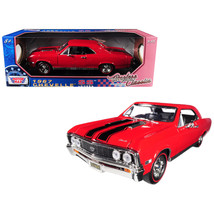 1967 Chevrolet Chevelle SS 396 Red with Black Stripes 1/18 Diecast Model... - $57.35