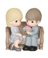 Precious Moments An Everlasting Love Couple on Bench Anniversary Figurine 143016 - $49.49