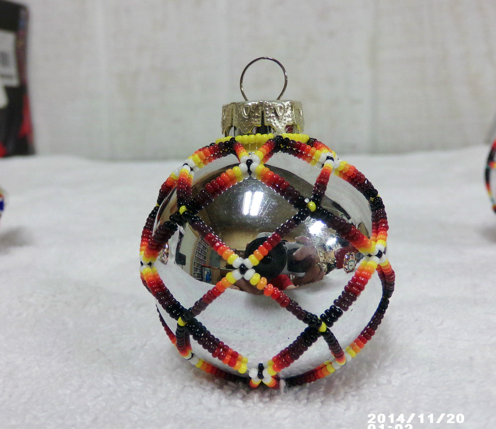 Native american handmade beaded christmas tree ornament for American christmas decorations