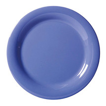 Diamond Mardi Gras 10.5 inch Narrow Rim Plate Peacock Blue Melamine/Case... - $214.94
