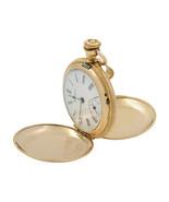 Hampden 10K Gold Filled White Enamel Roman Dial Manual Wind Pocket Watch - £379.97 GBP
