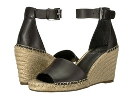 Vince Camuto Leera Ankle Strap Espadrille Wedge Sandals, Black Multiple Sizes  - $79.95