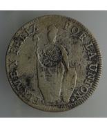 1834 Peru 8 RealesMM SILVER COIN, SPAIN PHILIPP... - $250.00