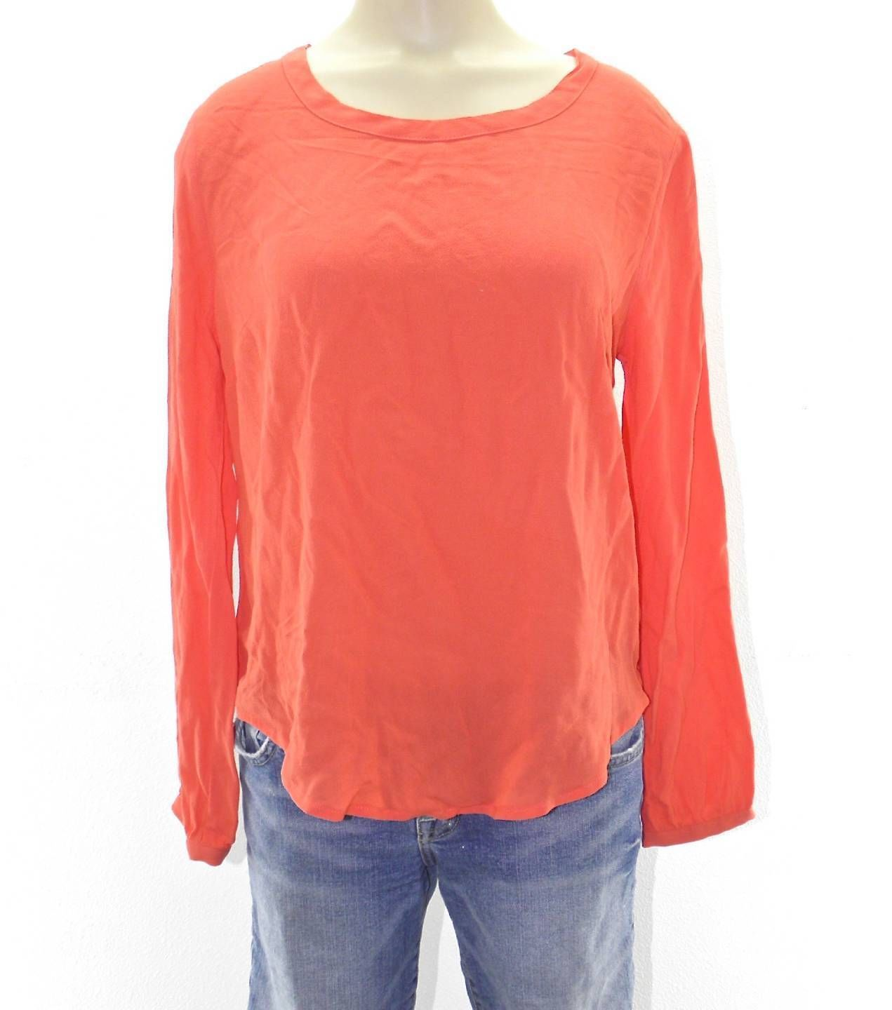 NEW WOMENS ELODIE LONG SLEEVE CORAL SHIRT BLOUSE SIZE S SMALL