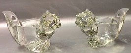 AVON Clear Crystal SQUIRREL Figurine - Lot Of 2 - Vintage 1970s - Votive... - $12.94