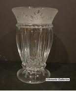 Cristal D'Arques Crystal Vase Carthage Pattern ~France Foot High - $20.00
