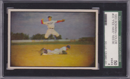Pee Wee Reese 1953 Bowman (Color) #33 Baseball Card SGC 50 VG/EX 4 - $349.00