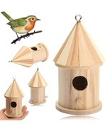 1pc Birdhouse Wooden Bird House Hanging Nest with Loop Home Garden Yard ... - $17.20