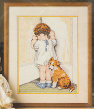 In Disgrace Cross Stitch Kit Bessie Pease Gutmann Bucilla Girl Time Out ... - $28.97