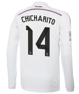 Real Madrid Long Sleeve #14 CHICHARITO Home Men Soccer Jersey Football Shirt - $31.95
