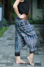 Comfy Big Size Pants Thai Hmong Cross stitch Ba... - $19.99