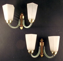 Pair of French ART DECO sconces 4 sockets give ... - $250.00