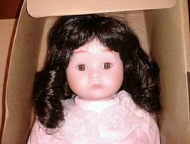 "1986 Seymour Mann Porcelain Doll #383 Dark Brown Hair/ Eyes 13"" *NO RESE... - $24.19"