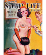 French Night Life Poster-Reprint of Sexy Pinup ... - $14.95