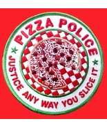 Pizza Police Justice Any Way You Slice It Embroidered Patch Funny Gag Gi... - $11.61
