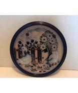 German Import : Blue High Glazed Kitchen Duck Plaque by Wolf Keramik - $7.99