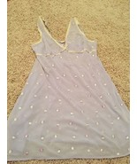 Victoria's Secret Lavender Sheer Chiffon Chemise Nightie Embroidered Ros... - $16.00