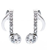 Music Note Crystal Rhinestone Fashion Small Stu... - $6.40