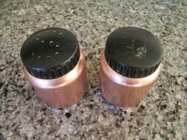 Vintage Color Craft Aluminum Salt & Pepper Shakers, Copper Color - $11.00