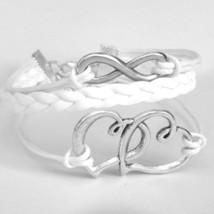 Infinity Bracelet Love Hearts Silver Charm Brac... - $8.50