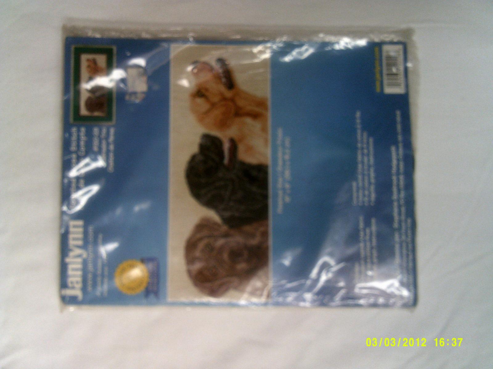 """Janlynn Counted Cross Stitch 15"""" x 6"""" Labrador Trio #120-29 - $14.98"""