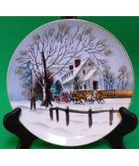 Holiday Sale! Norcrest China Hand Painted Decorative Plate, Winter Sleig... - $2.95