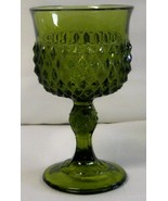 Indiana Glass Green Diamond Point Wine Goblet  - $24.99